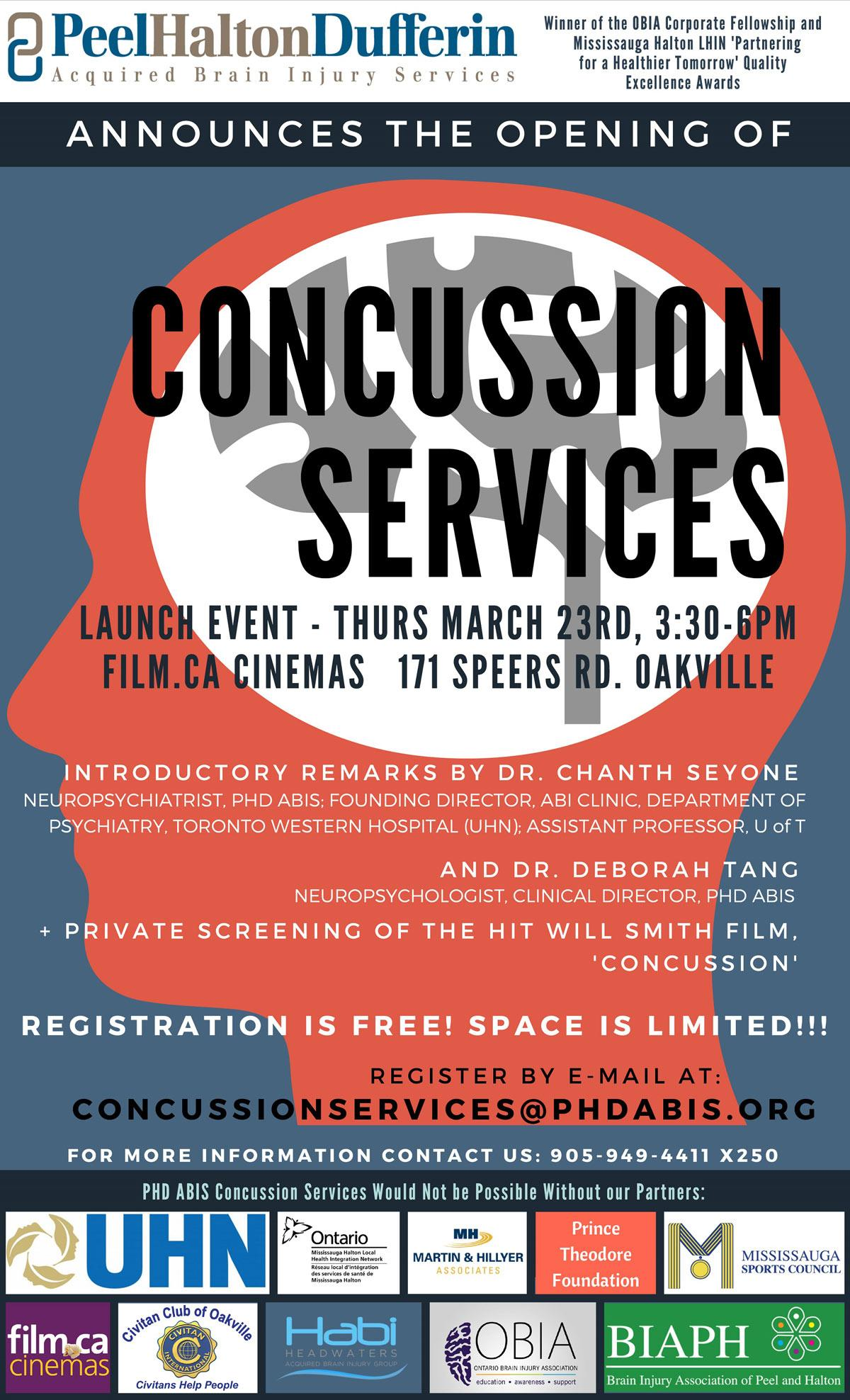 Pamphlet for Concussion Services