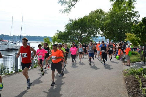 Runners during the 5k Marathon