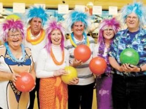 Participants at bowlathon