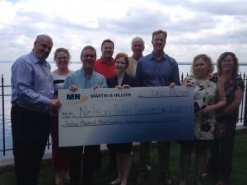 Martin & Hillyer Associates is proud to present Nelson Youth Centres with a cheque for $16,325.15