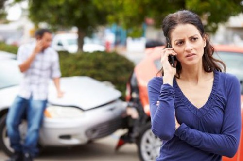 Motor Collison with Female on the Phone