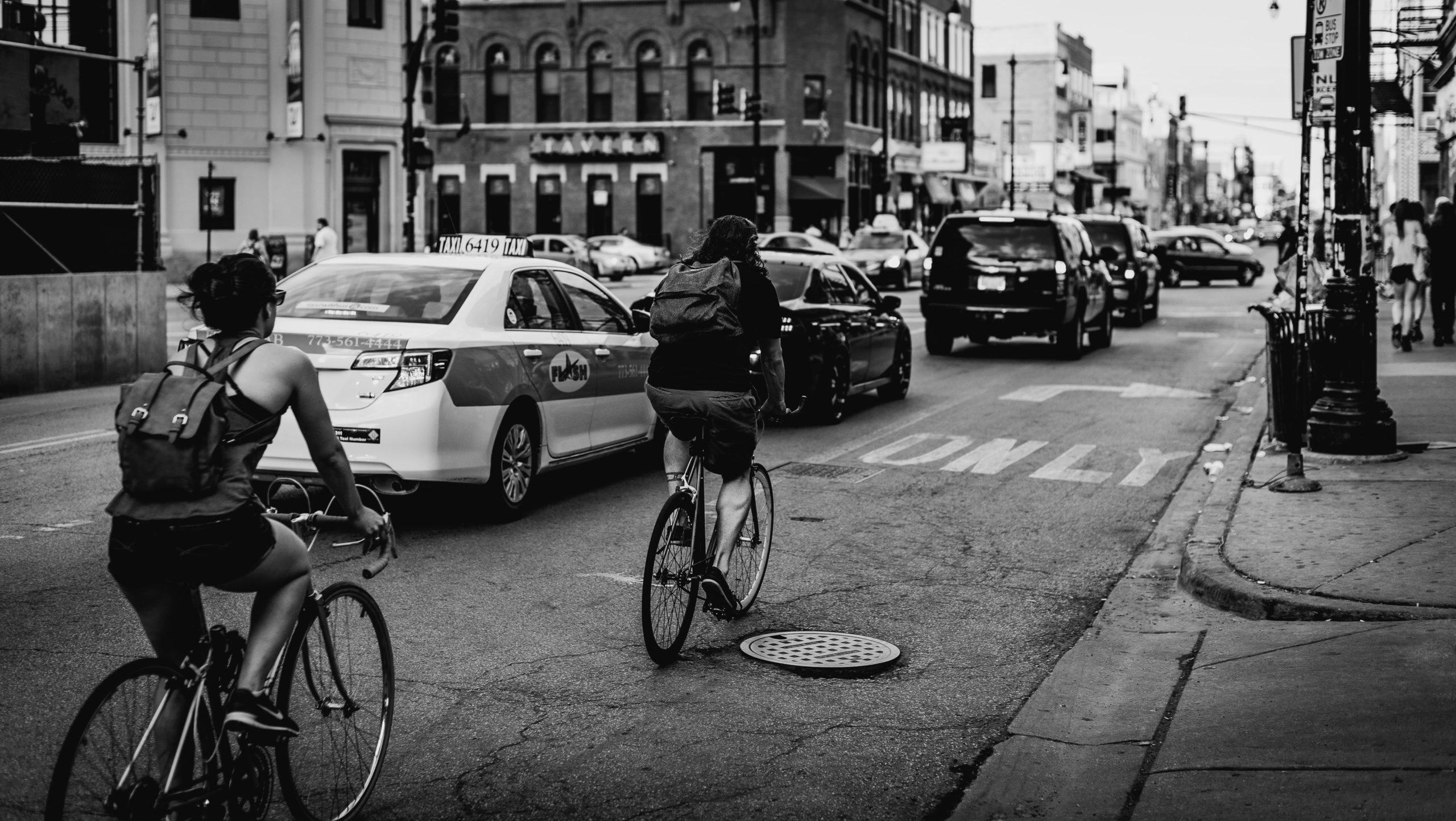 Dutch Reach Cyclist in the Street