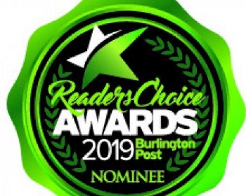 Burlington Post Reader's Choice Nominee Logo 2019 v2
