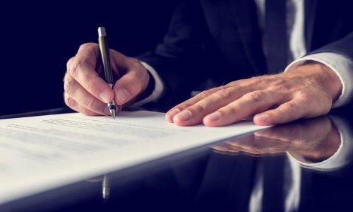 Signing Legal Documents